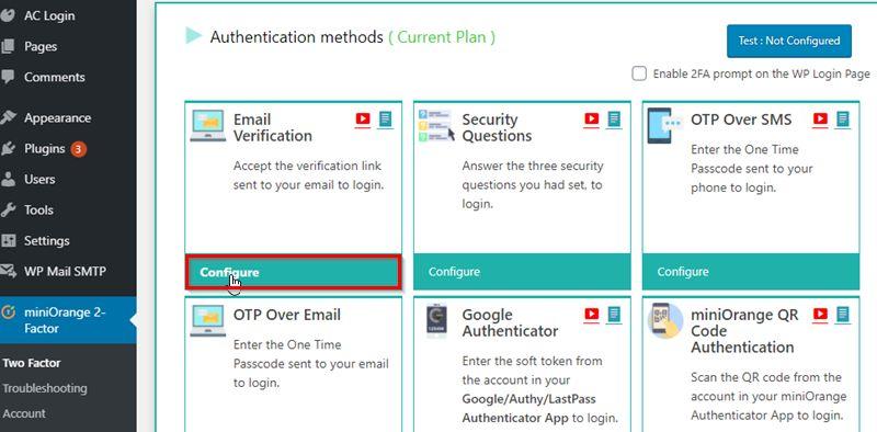 Configure Email Verification