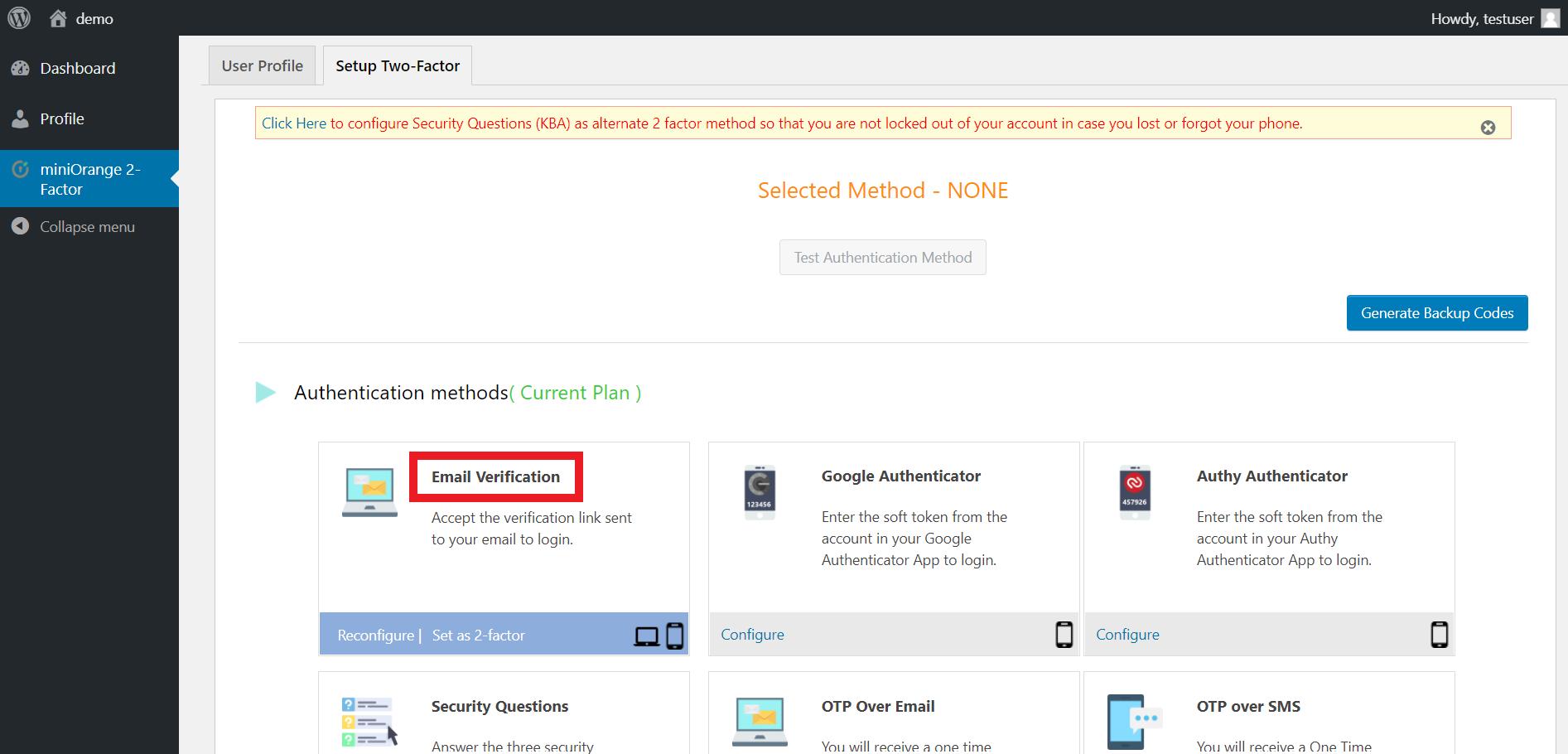 Email-verification-configure-user-end