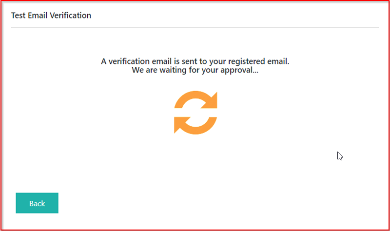 Accepting Email Verification Request