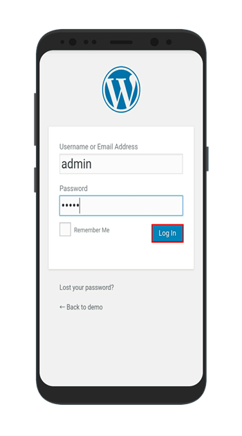 accessing wp site from phone