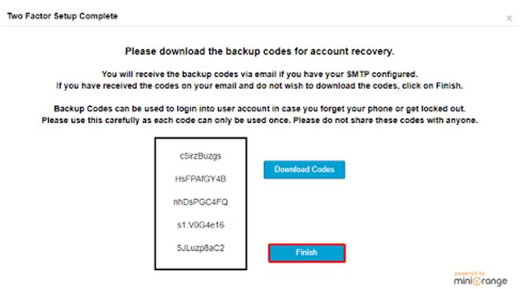 Backup code