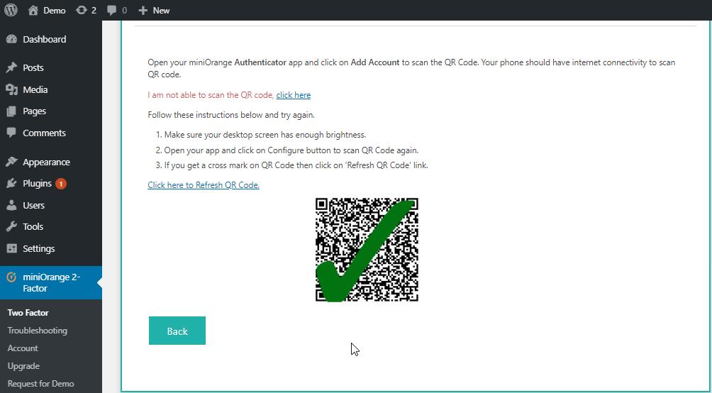 scan QR code with app