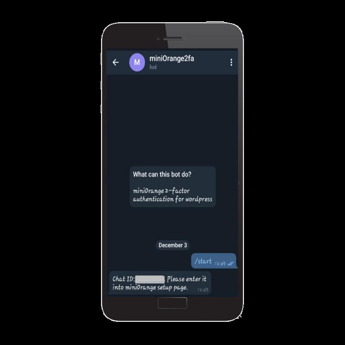 Start with telegram verification